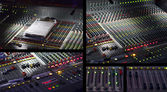 Audio mixing console in studio — Stock Photo