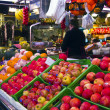 La Boqueria - famous market in Barcelona, next to the Ramblas. — Stock Photo #11020744