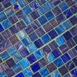The image of a blue ceramic tile close up — Stock Photo
