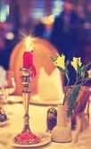 Candle lit dinner — Foto Stock