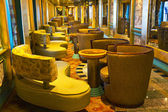 Magnificent interiors on cruise the ship — Stock Photo