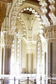 Praying hall of the Mosque of Hassan II — Stock Photo