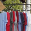 Stock Photo: T Shirts for Sale Outdoors