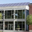 Stock Photo: Solar Panels on Library Roof