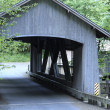 Old Bridge Over Cedar Creek - Stock Photo