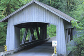Cedar Creek Wood Bridge — Stock Photo