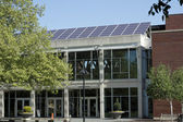 Solar Panels on a Library — Stock Photo