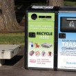 Stock Photo: Solar Powered Trash Compactor