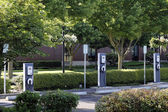 3 Electric Vehicle Charging Stations — Stock Photo