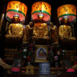 Buddhas in temple — Stock Photo