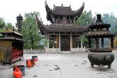 Buddhist monastery, Jiuhua Shan — Stock Photo