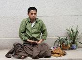 Man in meditation — Stock Photo
