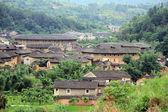 Tulou en aldea — Foto de Stock