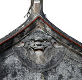 Face on the roof — Stock Photo