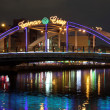 Bridge and lights - Foto Stock
