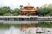 Pagoda and lotus pond — Stock Photo