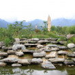 Rocks and pagodas — Stockfoto
