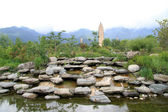 Rocks and pagodas — Stock Photo