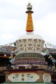 Tibrtian stupa — Stock Photo