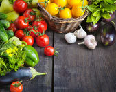 FARM FRESH vegetables and fruits — Foto Stock
