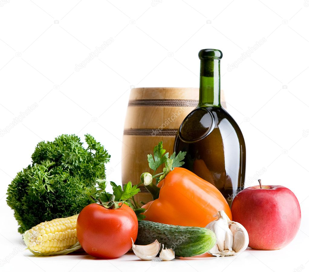 Organic food background; Farmers Vegetable Market — Stock Photo #10998461