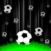 Bakgrund med bollar — Stockvektor