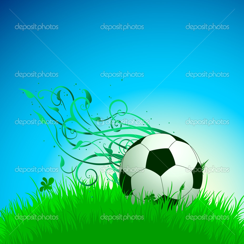 Background with ball,  this illustration may be useful as designer work — Stock Vector #12002742