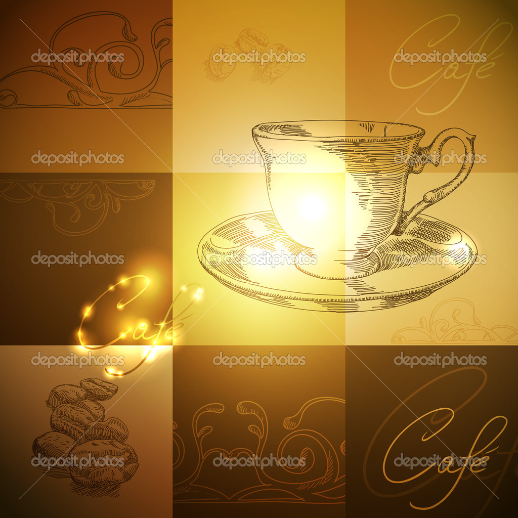 Coffee background, this illustration may be useful as designer work — Stock Vector #12182778