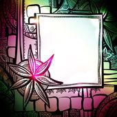 абстрактный фон с рамкой — Cтоковый вектор