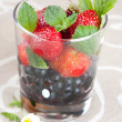 Fresh blackberries and strawberries — Stock Photo