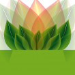 图库照片: Botanical background of stylised leaves