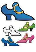 Blue suede shoes — Stock Vector