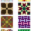 Stock Vector: Traditional quilting designs.