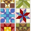 Traditional quilting designs. — Stockvectorbeeld