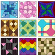 Old fashioned quilt squares — Vecteur #11927669