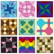 Stockvector : Old fashioned quilt squares