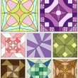 Old fashioned quilt squares — Stock Vector