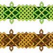 Summer and Fall knotwork bars — Stock Vector