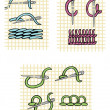 Royalty-Free Stock Vector Image: Canvas embroidery stitches
