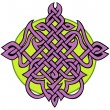 Amethyst tattoo knot - Stock Vector