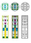 Traditional stained glass patterns — Stock Vector