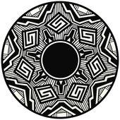 Native american geometric pottery design — Stock Vector