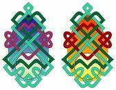 Pagoda knots — Stock Vector