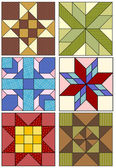 Traditional quilting designs. — Vector de stock