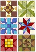 Traditionella quilting mönster. — Stockvektor