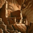 Square Tower House, Mesa Verde — Stock Photo