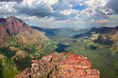 Glacier Park Alpine Scenery — Stock Photo