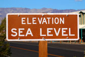 Elevation Sea Level Sign — Stock Photo