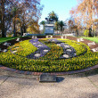 Queen VictoriGardens Floral Clock — Stock Photo #11600837