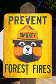 Prevent Forest Fires Sign — Stock Photo